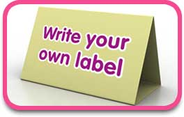 write your own label