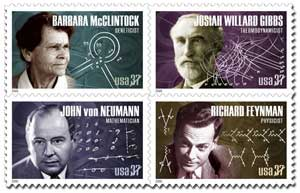 4 American Scientist Stamps