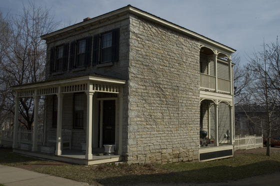 Many of the older houses in town have basements made of limestone blocks. These were a popular building material before cement blocks became common.