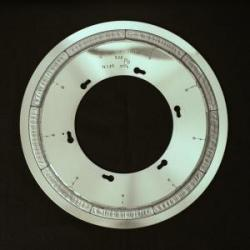 The accelerator: The target wheel equipped with lead waiting to be irradiated with zinc ions