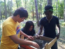 Excavation Day: KAYSC Bilir, Nge, and Malcolm screening material