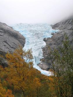 The Briksdal Glacier: Not at its most impressive. Just look away.