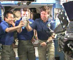 Drinking our waste to our health: Astronauts aboard the International Space Station toasted their first sips of water converted from urine they've expelled during their time in the station.