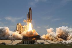 Atlantis Lifts Off: Space shuttle Atlantis lifted off from Launch Pad 39A at NASA's Kennedy Space Center in Florida on the STS-132 mission to the International Space Station at 2:20 p.m. EDT on May 14.