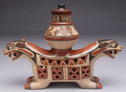 Double Headed Incense Pot