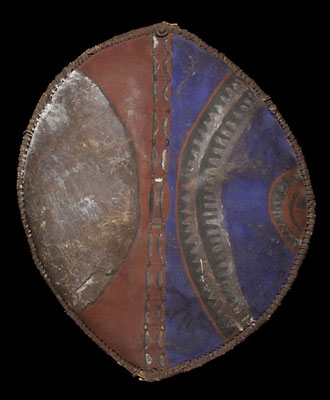 Maasai shield and spear