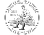 Lincoln learning: One of the new penny backs will show the young Abe Lincoln studying while splitting rails in Indiana.