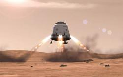 Why is that spaceship covered in flamethrowers?!: Oh. Maybe they're rockets.
