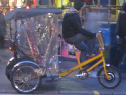Bicycle rickshaw: What does it take to fuel this?