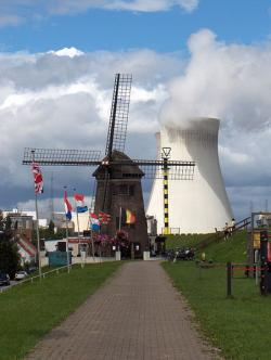 Which would you rather look at?: Ok, I know modern turbines aren't so quaint, but still...