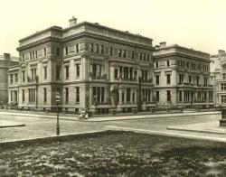 William H. Vanderbilt's Twin Mansions: William H. lived in the nearer building (640 Fifth Avenue) while his two married daughters and their families lived in the 642 Fifth Avenue address which was divided into two residences.