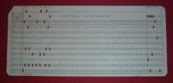Fortran punch card
