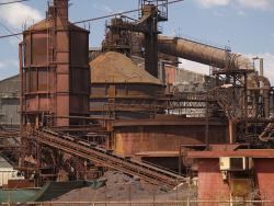 Steel plant: This place is probably recycling steel RIGHT NOW.