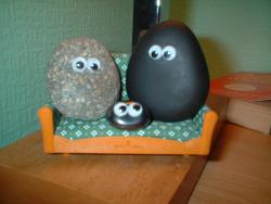Family Portrait: From left to right: Momma Igneous, Baby Sedimentary, and Poppa Metamorphic.