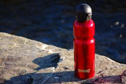 BPA-free: This Sigg bottle is made from enameled aluminum, and it's an example of a BPA-free bottle.