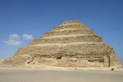 Buried neighbor: The Step Pyramid of Saqqara is a close neighbor to the buried pyramid that was discovered recently in Egypt. Archaeologists had to dig throug 25 feet of sand to find the pyramid's remains.