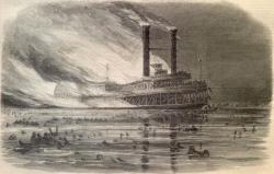No iceberg needed: This drawing from Harpers Weekly in May 1865 showed the wreckage in the aftermath of the explosion aboard the Sultana while it was cruising the Mississippi River near Memphis. It's believed more people died in that accident than aboard the Titanic, which sank in the north Atlantic in 1912.