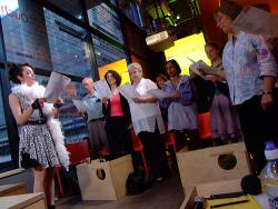 singing songs of science at the Dana Centre in London