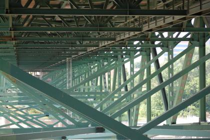 Truss of the 35W bridge before collapse: on the underside of the bridge from June 17th, 2007Image courtesy Brian Hayes