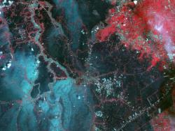 Thailand Flooding from Space