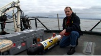 More photos of the AUV deployment: More photos of the AUV deployment
