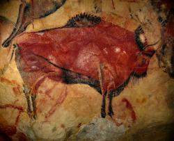 Bison painting at Altamira cave in Spain: Is it not amazing that we can instantly view on our computers this digital image of a bison painted 22,000 years ago by some unknown Paleolithic artist in a Spanish cave located 4300 miles from St. Paul, Minnesota? Just an observation.