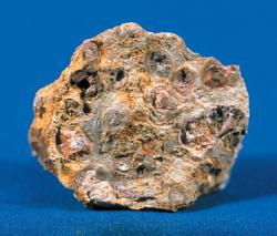 Bauxite: It takes a lot of energy to get the aluminum out of this rock to make a can.