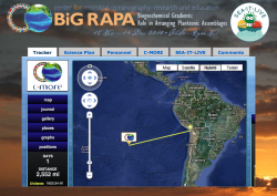 BiG RAPA expedition's multi-media, interactive Sea It Live website