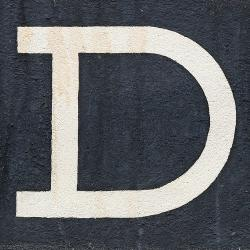 Today's article is brought to you by the letter D