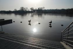 Kate's photos, 3/18 (3): Looks peaceful, doesn't it? Still, the city is warning people to stay off of the river, out of the low-lying parks, and away from Harriet Island and Water Street.