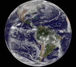 Goodbye 2010 weather: The Western hemisphere as recorded by GOES-13 on December 30, 2010 at 1445 UTC (9:45 a.m. EST),