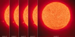 Red alert: Based on what they've seen at the star V 391, astronomers say there is a possibility that Earth could survive a red giant phase expansion of our Sun. (Photo courtesy of NASA)