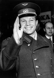 Yuri Gagarin in Sweden in 1964