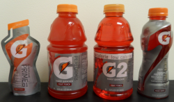 Energy booster: Gatorade drinks are generally considered good sports drinks to quickly power up your body, but only after you've done about an hour of working out.