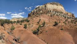 Ghost Ranch, New Mexico: The spectacular rock formations at Ghost Ranch display strata from all three geological periods of the Mesozoic era and have proven rich in Triassic-aged fossils.
