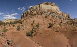 Ghost Ranch, New Mexico: The red beds here have produced fossils of a new early carnivorous dinosaur.
