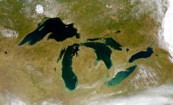 Great Lakes from space: Photo by NASA