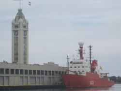 R/V Hespérides, docked at Aloha Tower in Honolulu, Hawai`i