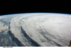 Hurricane Ike: Taken from International Space Station