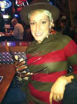 Recent Photo of Myself: Here is a picture of me on Halloween 2011.  Obviously I was Freddy Krueger :)