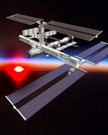 Space station: NASA graphic