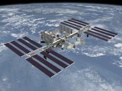 International Space Station: To see a really big version of this click on the word NASA (in red).