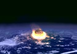 Killer asteroid?: Artist conception of impact event