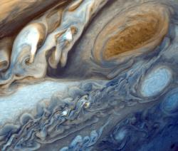 The Great Red Spot: Image courtesy NASA.