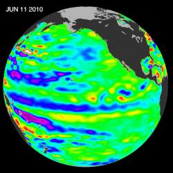 Adios El Niño, Hello La Niña?: The Pacific has switched from warm (red) to cold (blue).