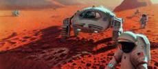 Artist's conception of colonization on Mars:  Courtesy NASA