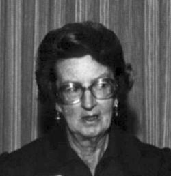 Mary Leakey c. 1977: Her discoveries of fossils and fossil footprints of early hominines in Aftrica's Rift Valley garnered her world fame.