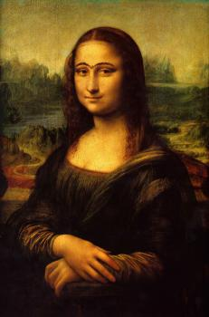 "I call it ""Mona Lisa used to have eyebrow"": Is it not beautiful?"