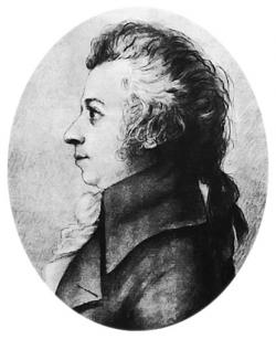 Wolfgang Amadeus Mozart: Drawn about 2 years prior to his death.