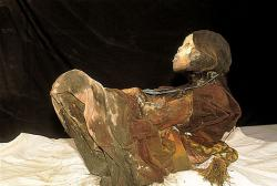 Mummy Juanita: This mummy was found on a mountain top in Chile, naturally mummified by the cold, dry conditions.